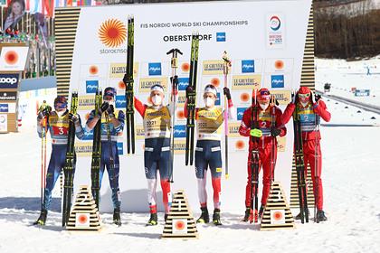 Большунов и Ретивых завоевали бронзу в командном спринте на чемпионате мира