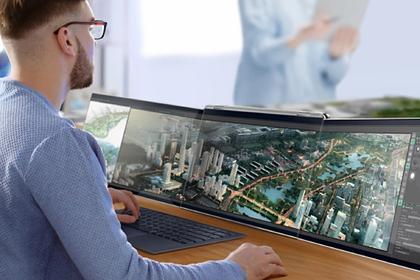 Создан ноутбук с тремя экранами