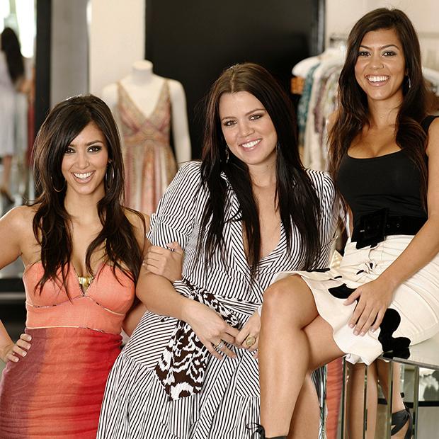 Ким, Хлои и Кортни Кардашьян в собственном магазине DASH, 2006 год