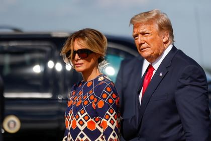 Трамп с женой привились от коронавируса еще в январе
