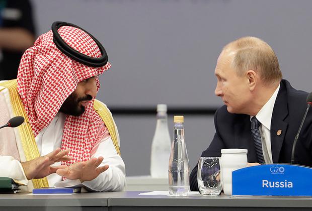 Мухаммед бин Салман Аль Сауд и Владимир Путин