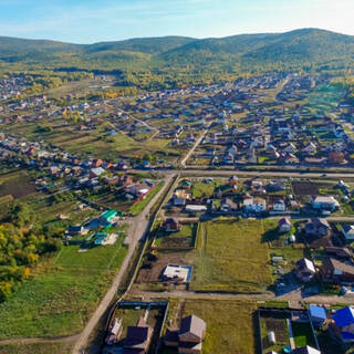 Частный сектор на Кузнецовском плато