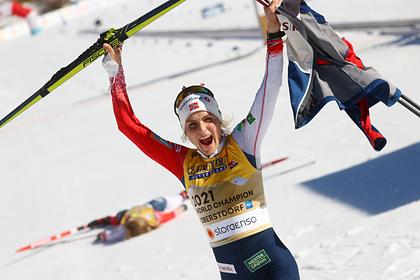 Норвежская лыжница обошла Лазутину по количеству золотых наград на ЧМ