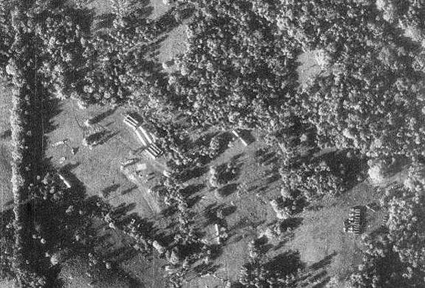 Снимок с самолета U-2, на котором видны советские ракеты на Кубе