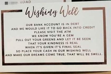 Жадная невеста попросила гостей скинуться на погашение ее долгов