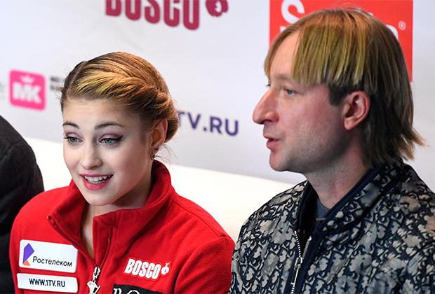 Алена Косторная и Евгений Плющенко