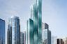 """Почти готовый небоскреб Vista Tower в Чикаго спроектировала американский архитектор и основатель бюро Studio Gang Джинн Ганг (Jeanne Gang). После открытия в конце 2021 года он <a href=""""https://www.dezeen.com/2016/03/29/vista-tower-studio-gang-jeanne-gang-supertall-skyscraper-luxury-residential-hotel-tower-chicago-architecture/"""" target=""""_blank"""">должен стать</a> самым высоким зданием, созданным женщиной. Vista высотой 348 метров замкнет тройку высочайших небоскребов города — после Уиллис-тауэр и башни Трампа.<br><br>Vista Tower выглядит как соединенные друг с другом башни с разным числом этажей. Особенность постройки — волнистый фасад из сине-зеленого стекла. Во время работы Ганг <a href=""""https://www.dezeen.com/2015/09/22/jeanne-gang-movie-vista-residences-skyscraper-chicago-waterfront/"""" target=""""_blank"""">вдохновлялась</a> формой кристаллов и драгоценных камней — флюорита и сапфира. В природе минералы имеют форму усеченных пирамид, поворачивая и соединяя их друг с другом, архитектор заметила, что можно достичь эффекта волнистости. Атмосферу небоскребу добавляет локация напротив озера Мичиган и река Чикаго — вода отражается в стекле, создавая ощущение плавного движения.<br><br>На разработку проекта ушло 950 миллионов долларов (более 70 миллиардов рублей). В башне оборудуют 400 жилых апартаментов и отель. Чтобы пробудить у жильцов любовь к науке, дизайнеры выбрали для каждой квартиры определенную гамму. Спектр оттенков также подсказали минералы — топаз, аметист, флюорит или сапфир."""