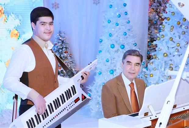Президент Туркменистана Гурбангулы Бердымухамедов с внуком Керимом