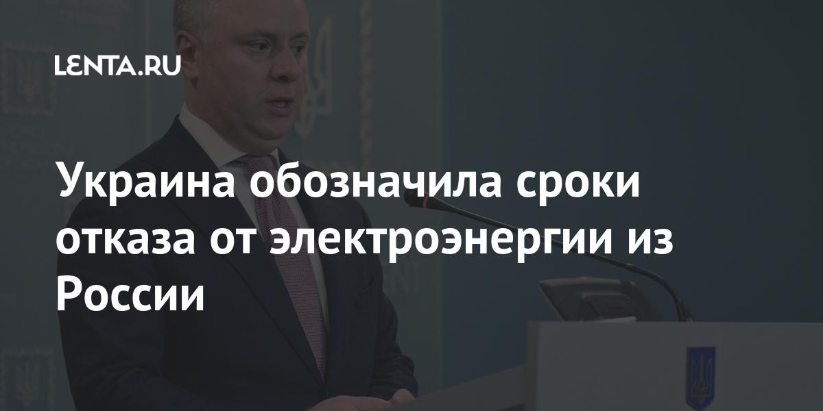 Украина обозначила сроки отказа от электроэнергии из России
