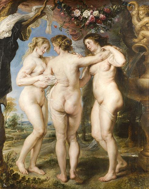 Питер Пауль Рубенс «Три грации», 1630-1635