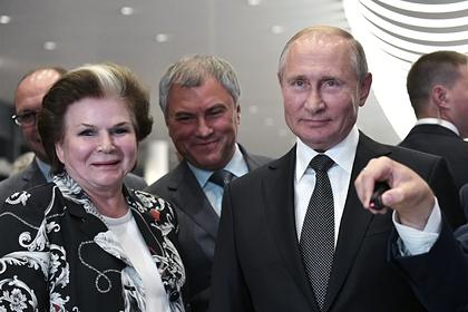 Путин поздравил Терешкову и похвалил за работу в Госдуме