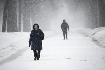 Москвичей предупредили о сильном снегопаде