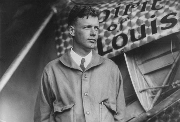 Летчик Чарльз Огастес Линдберг, впервые перелетевший Атлантический океан