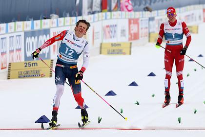 Норвежца дисквалифицировали за столкновение с Большуновым в марафоне на ЧМ
