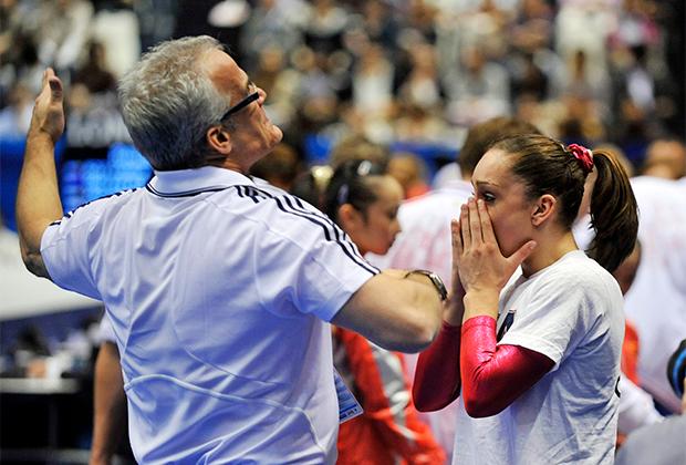 Чемпионат мира-2011. Джон Геддерт и гимнастка Джордин Уибер