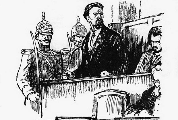 Николай Кибальчич на суде
