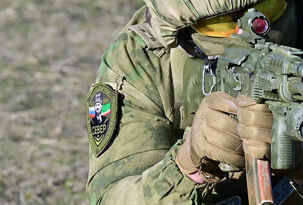 Офицеры батальона «Север» на занятиях по огневой подготовке