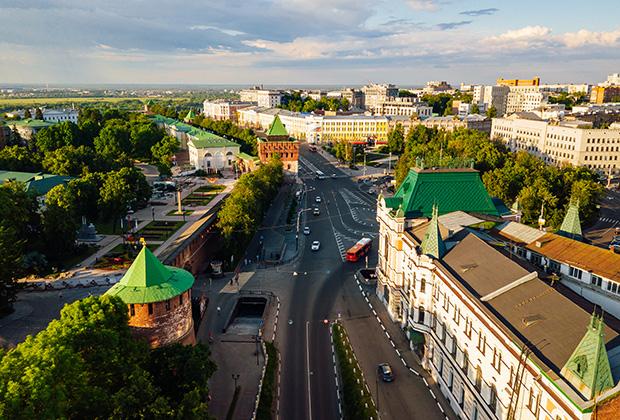 Нижегородский кремль и площадь Минина и Пожарского