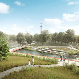 Проект обновленного Цветного бульвара в 2050 году
