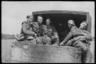 Немецкие военные в кузове военного грузовика. Франция, 1940 год.