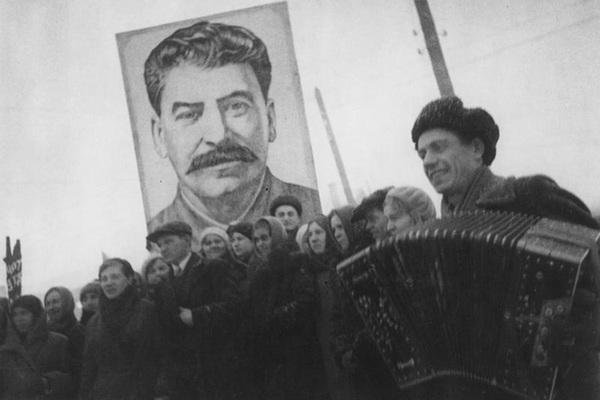 Демонстрация в честь принятия новой конституции СССР. Декабрь 1936 года