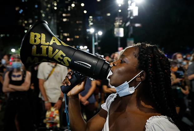 Протесты BLM в Нью-Йорке в августе 2020 года