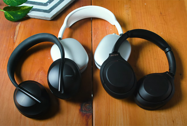 Bose NC700, Apple AirPods Max и Sony WH-1000XM4