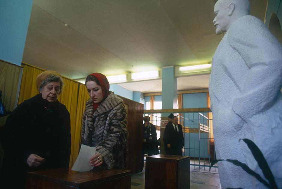 Голосование на референдуме по вопросу о сохранении СССР