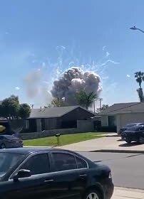 Мощный взрыв в Калифорнии попал на видео