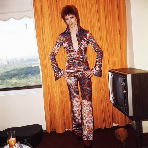 Дэвид Боуи в образе Зигги Стардаста в Нью-Йорке, 1973 год