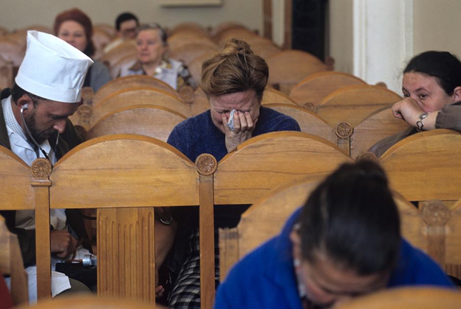 Родственники жертв  в зале суда во время заседания