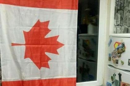 Белоруса посадили на 15 суток за канадский флаг в окне