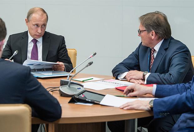 Владимир Путин и Борис Титов