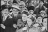 Мирные жители встречают советских солдат. Ботошани, Румыния. Апрель 1944 года.