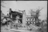 Жилые дома, разрушенные немецкой бомбардировкой. Ботошани, Румыния. Апрель 1944 года.