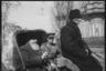Префект и военный комендант объезжают город. Ботошани, Румыния. Апрель 1944 года.