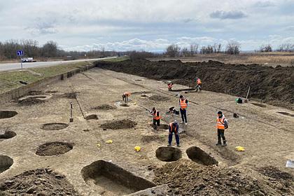 Во время строительства дороги к Крымскому мосту обнаружили древние захоронения