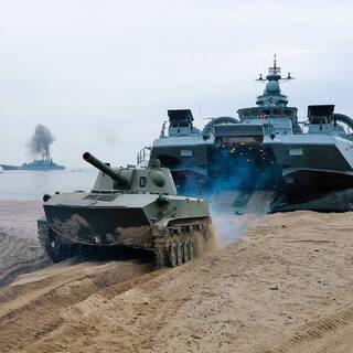 Учения Балтийского флота в Калининградской области