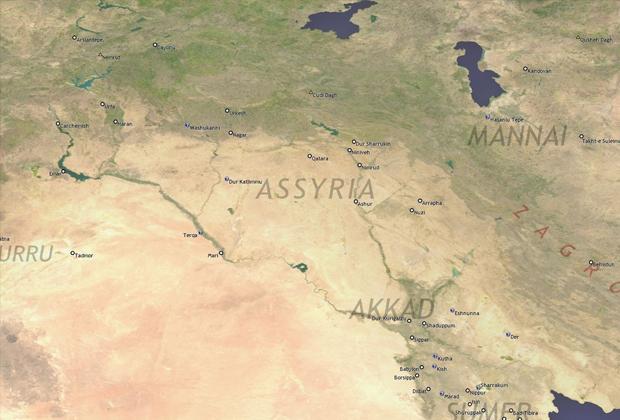 Приблизительное расположение Ассирии
