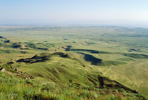 Возле границы Грузии и Азербайджана