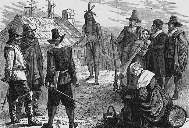 Английские колонисты из Плимутской колонии, 1621 год