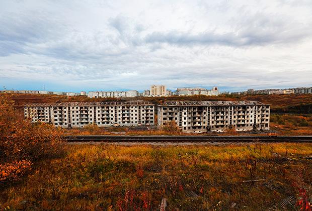 Расселенный и заброшенный в 90-е годы поселок Рудник в Воркуте