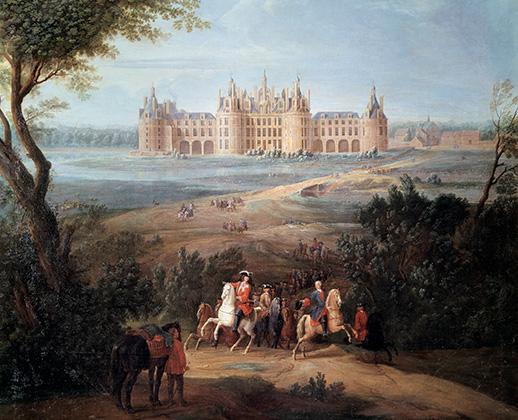 Вид на замок Шамбор, картина Пьера-Дени Мартена