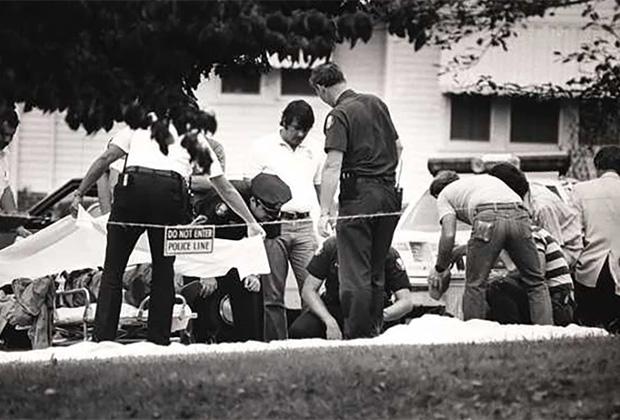 Полиция на месте гибели Эндрю Торнтона