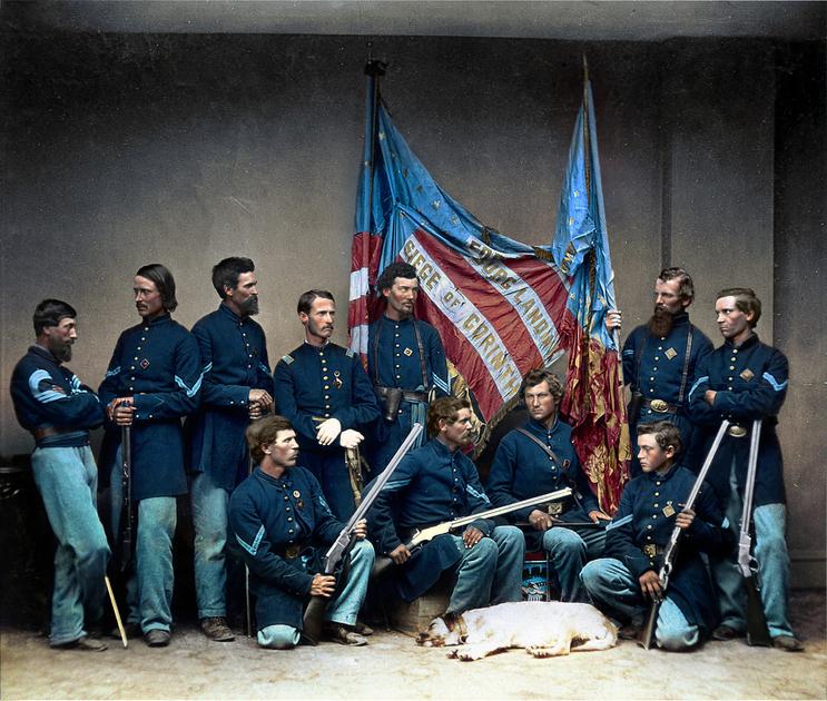 Гражданская война США в цветных фотографиях
