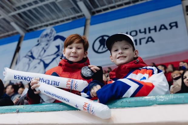 Болельщики во дворце спорта «Арктика»