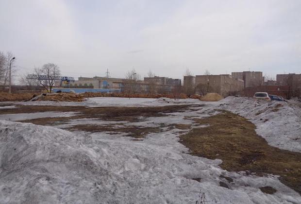 Пустырь на улице Данилова, где исчезла Марина Островская