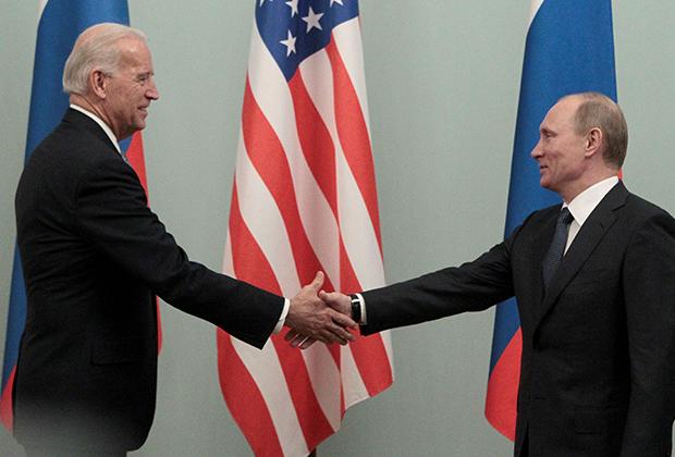 Встреча Байдена и Путина в Москве в 2011 году