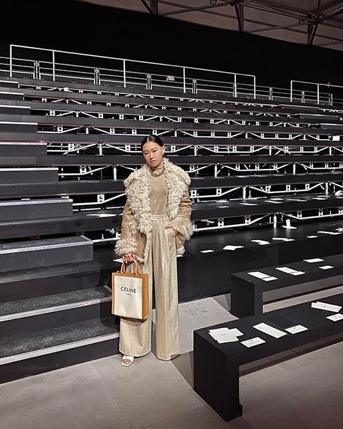 Джейми Сье перед началом показа в рамках Недели моды