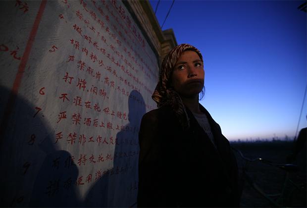Сборщица хлопка в уезде Меркет в СУАР, 2005 год